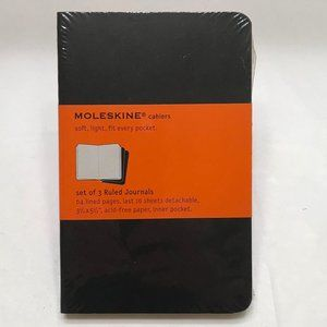 Moleskine 3-pack lined notebook journals NEW
